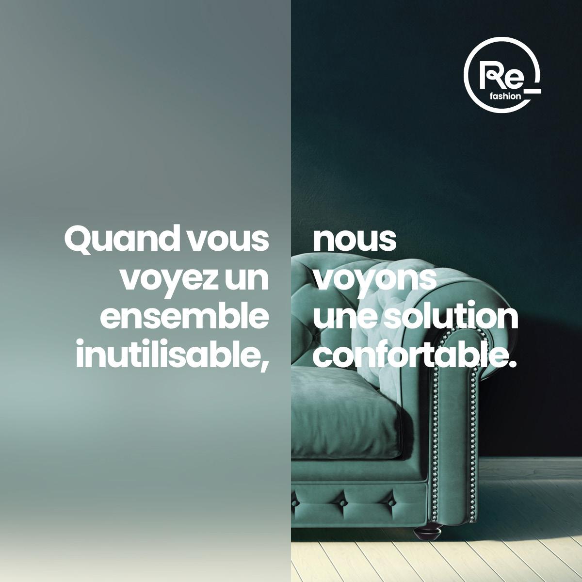 Visuel de la campagne de sensibilisation au tri des textiles
