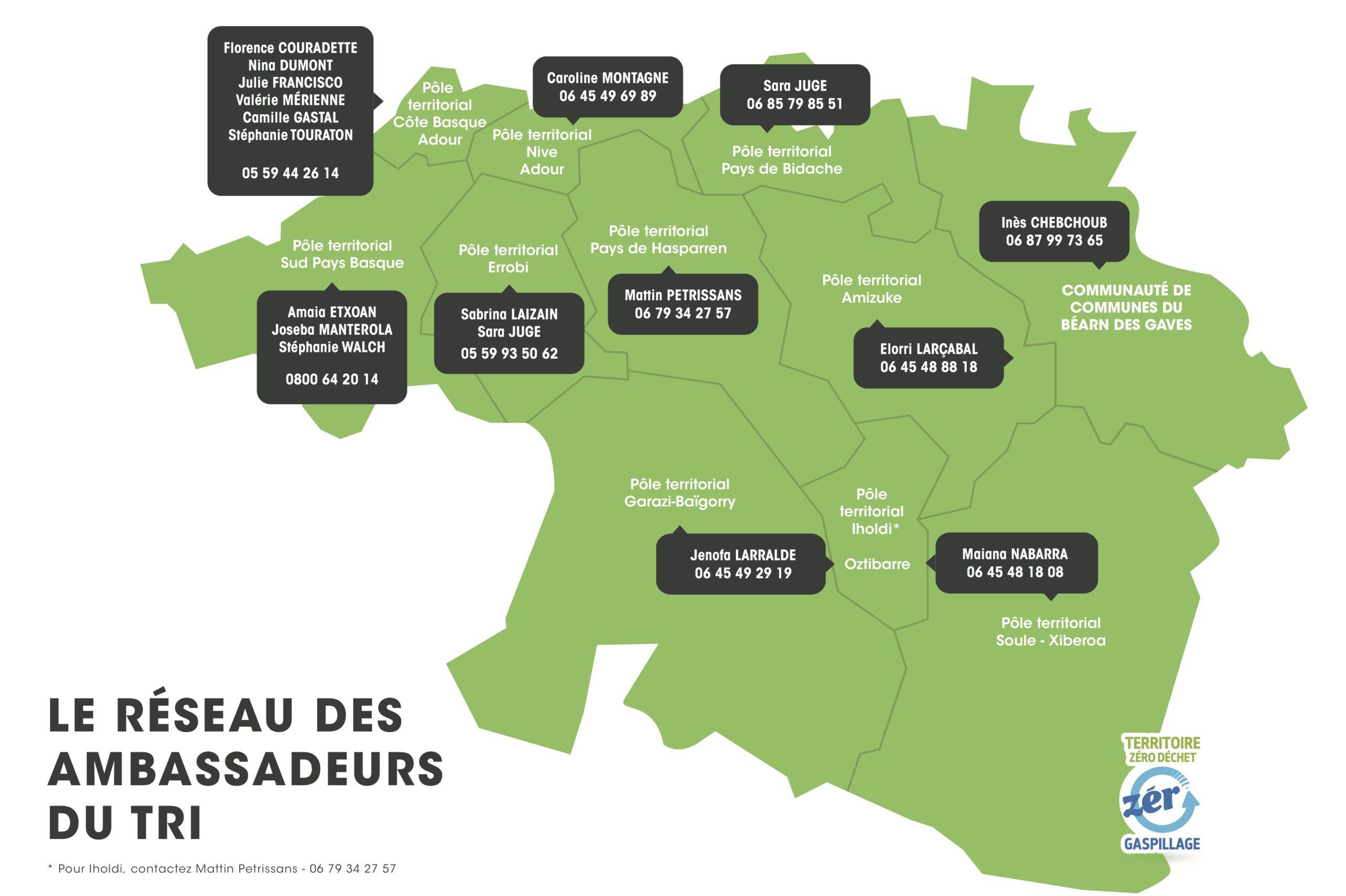 carte des ambassadeurs du tri suivre le lien 'Ambassadeurs du tri'