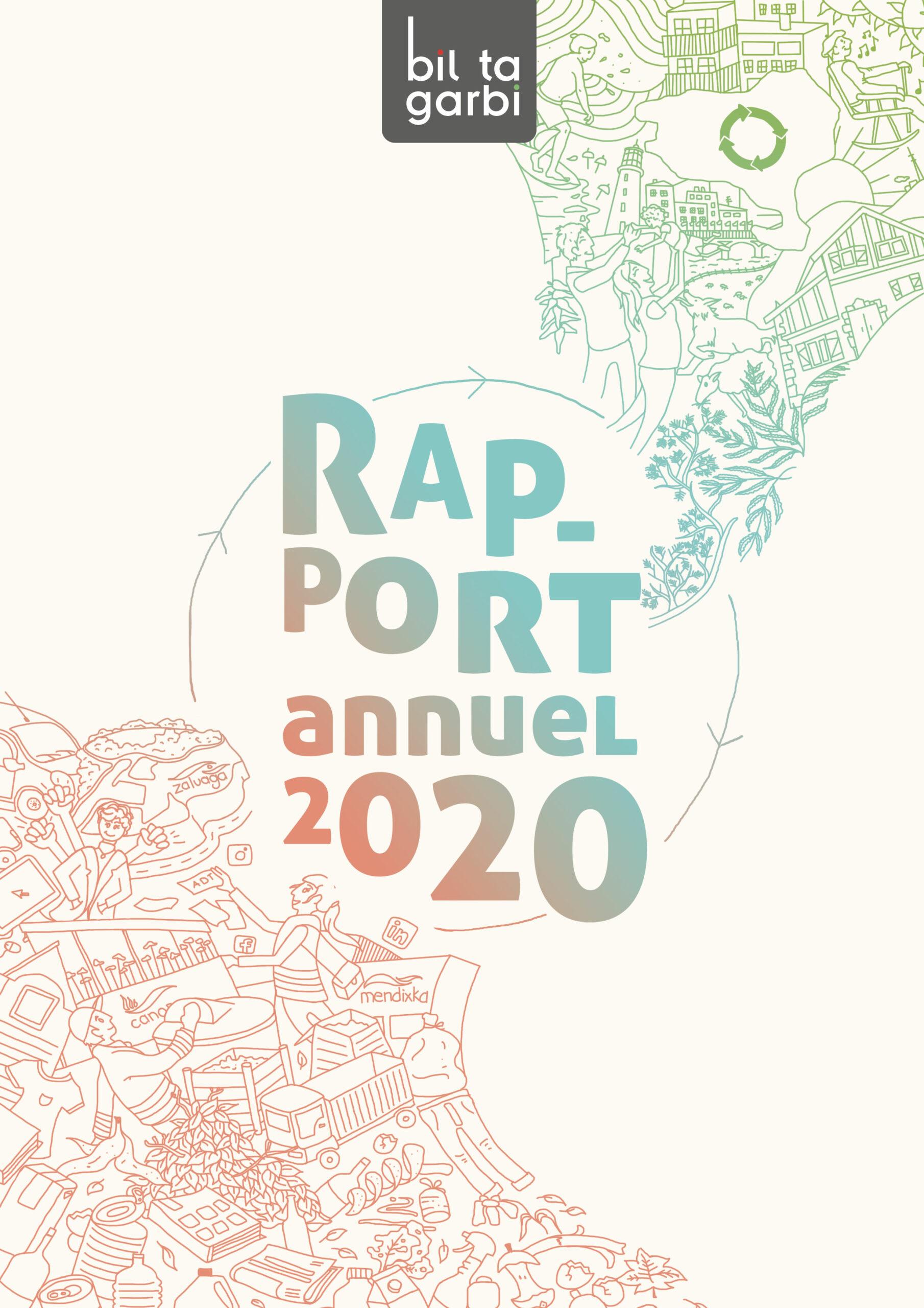 Photo de la couverture du Rapport annuel 2020 du Syndicat Bil Ta Garbi
