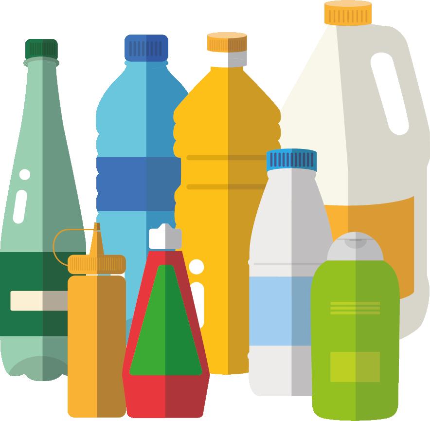 bouteilles et flacons en plastique se trient !