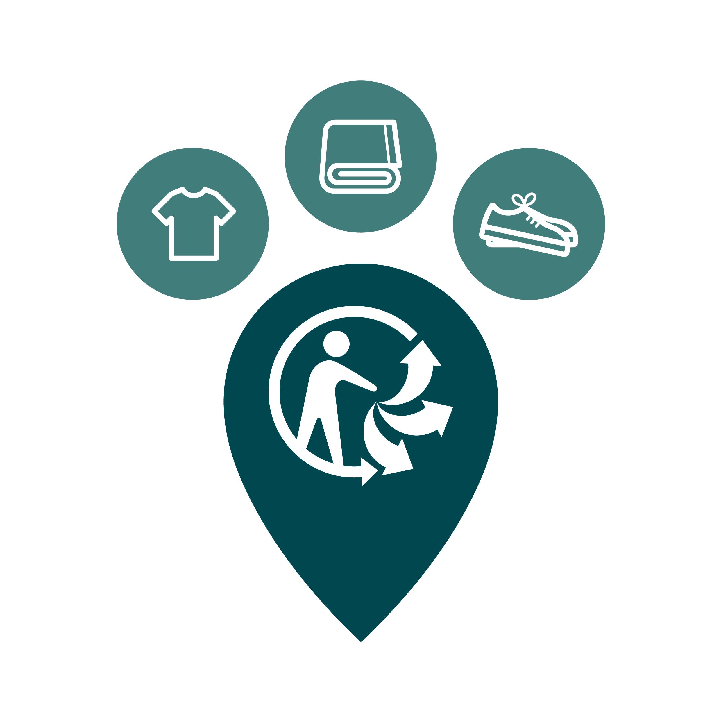 Le logo de la filière Textiles en France (re-fashion)